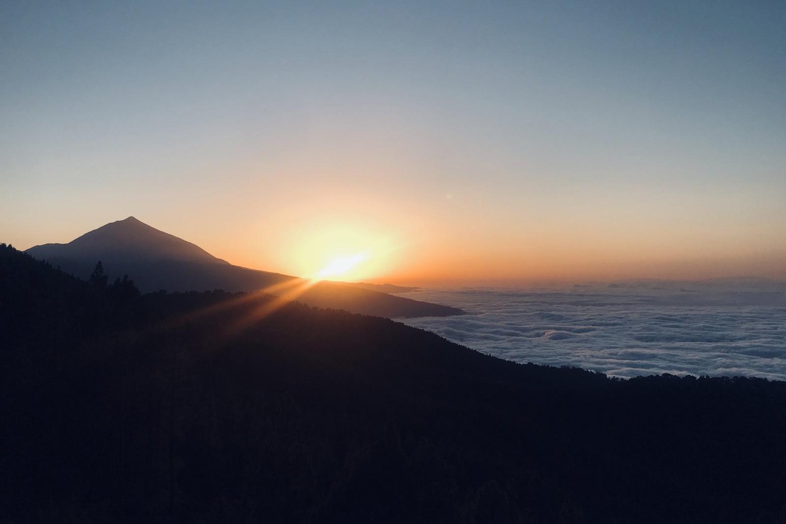 teide západ slunce