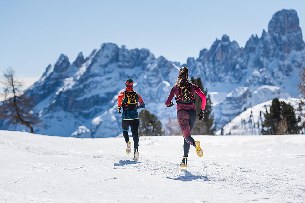 běh v horách