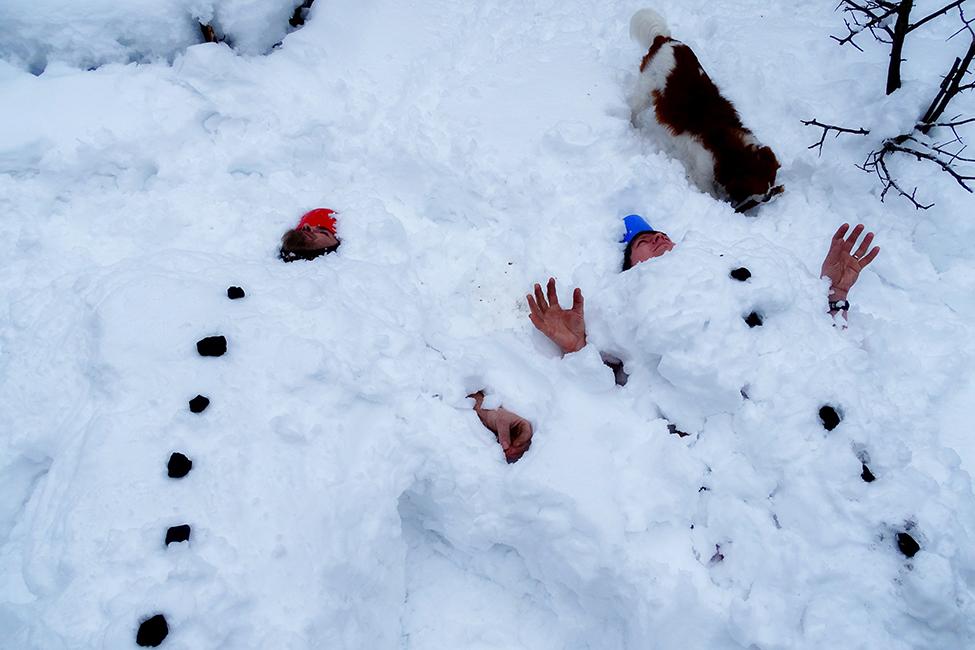otužování sněhem