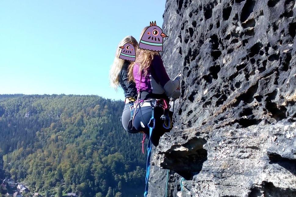 Nina Doležalová_lezecké kalhoty
