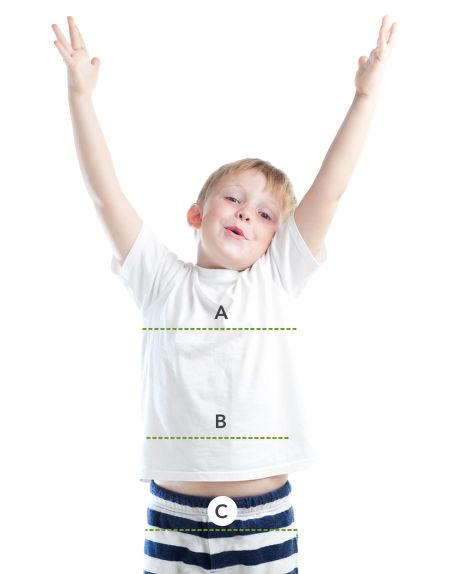 Jak se správně měřit – děti, trup