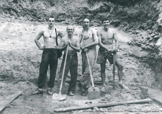 Martin Rýva, Richard Litochleb, Petr Laštovička a Jindřich Hudeček, Hřensko.