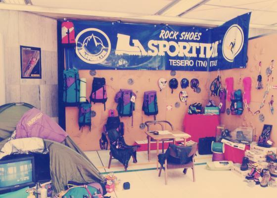La Sportiva hlavní značkou veletrhu Sport Prague na začátku 90. let.