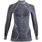 Ambityon UW Shirt LS Melange Turtleneck Women Black Melange/Pink/Aqua
