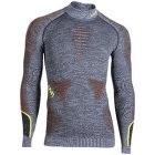 Ambityon UW Shirt LS Melange Turtleneck Men Black Melange/Orange/Yellow