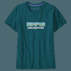 Pastel P-6 Logo Organic Crew T-Shirt Women Dark Borealis Green