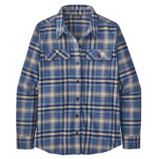L/S Organic Cotton MW Fjord flannel Shirt Women Ice Fjord: Dolomite Blue