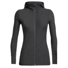 Descender LS Zip Hood Women Jet HTHR