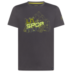 Cubic T-Shirt Men Carbon/Kiwi