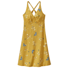 Amber Dawn Dress Women Night Pollinators Spaced: Surfboard Yellow