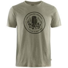 Fikapaus T-shirt Men Light Olive-Melange