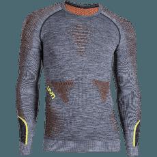 Ambityon UW Shirt LS Melange Men Black Melange/Orange/Yellow