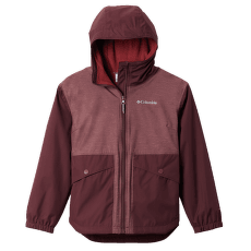 RAINY TRAILS™ Fleece Lined Jacket Girls Malbec, Malbec Slub 671