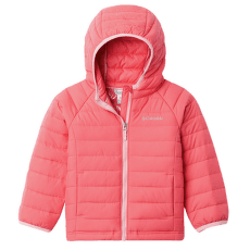 Powder Lite™ Hooded Jacket Girls Bright Geranium 673