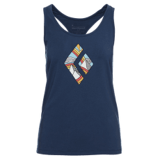 Rainbow Diamond Tank Women Ink Blue