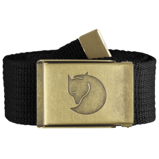 Canvas Brass Belt Black