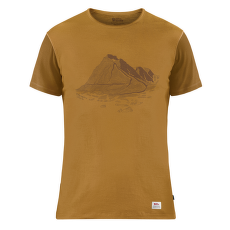 Keb Wool T-shirt Print Men Acorn-Chestnut
