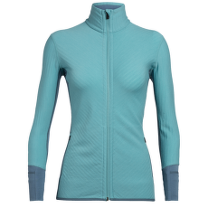 Descender LS Zip Women Lagoon/BLUE SPRUCE