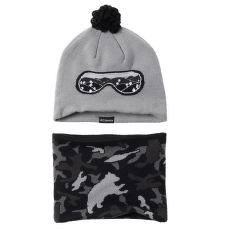 Youth Snow More™ Hat And Gaiter Set Columbia Grey Critter Camo 039