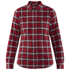 Övik Flannel Shirt Women Deep Red