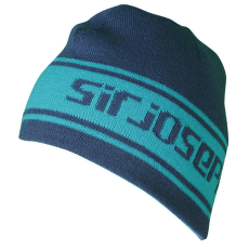 Beanie 52 turquoise/navy