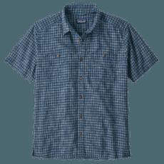 Back Step Shirt Men Ikat Net: Stone Blue