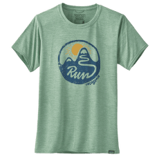 Cap Cool Daily Graphic Shirt Women Switchback Run: Gypsum Green X-Dye