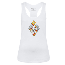 Rainbow Diamond Tank Women White