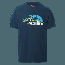 Mountain Line Tee S/S Men MONTEREY BLUE