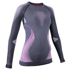 Evolutyon UW Shirt LS Lady Melange Anthracite Melange/Raspberry/Purple