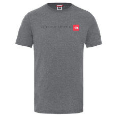 Never Stop Exploring Tee Men TNFMEDIUMGREYHTHER/TNFRED