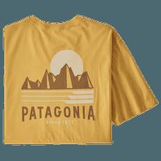 Tube View Organic T-Shirt men Mountain Yellow
