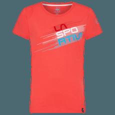 Stripe Evo T-Shirt Women Hibiscus