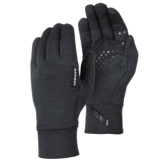 Wool Glove black mélange 0033