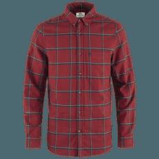 Övik Comfort Flannel Shirt Men Red Oak-Navy