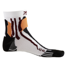 Run Speed Two Socks White-Black-Orange