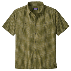 Back Step Shirt Men Ikat Net: Palo Green