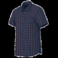 Asko Shirt Men marine-dark carmine 5834