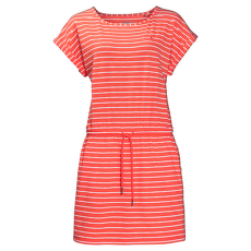 Travel Striped Dress hot coral stripes 7777