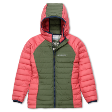 Powder Lite™ Hooded Jacket Girls Cypress, Wild Salmon 316