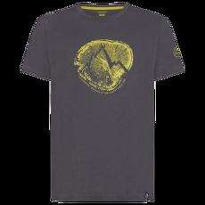 Cross Section T-Shirt Men Carbon/Kiwi