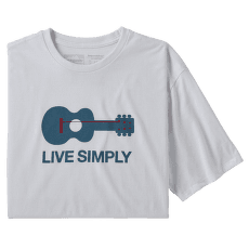 Live Simply Guitar Responsibili Tee Men White