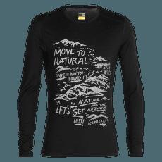 Oasis LS Crewe Travel Diaries 200 Men Black