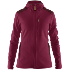 Keb Fleece Hoodie Women Plum-Dark Garnet
