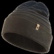 Classic Striped Knit Hat Dark Olive-Dark Navy