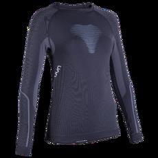 Visyon UW Shirt LS Women Charcoal/Light Blue/White