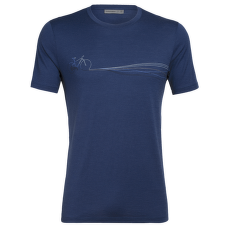 Tech Lite SS Crewe Cadence Paths Men ESTATE BLUE