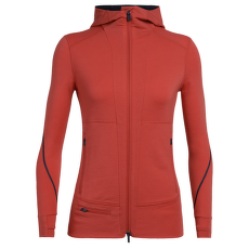 Quantum II LS Zip Hood Women Fire