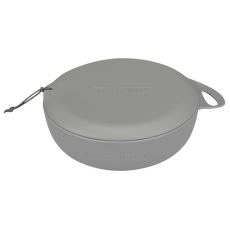 Delta Bowl with Lid Grey