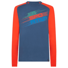 Stripe Evo Long Sleeve Men Opal/Poppy